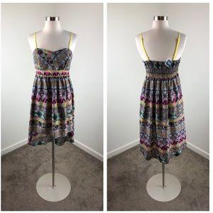 NEW Band of Gypsies multicolored high low dress